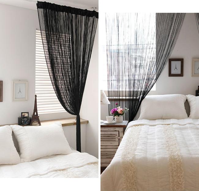 Шторы нити для спальни